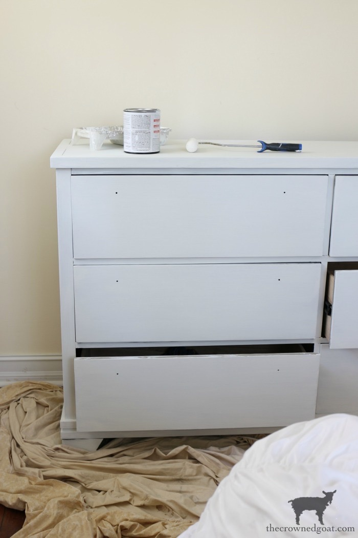 Annie-Sloan-Chalk-Paint-Pure-White-Dresser-Makeover-The-Crowned-Goat-4 Loblolly Manor: Pure White Dresser Makeover Loblolly_Manor Painted Furniture