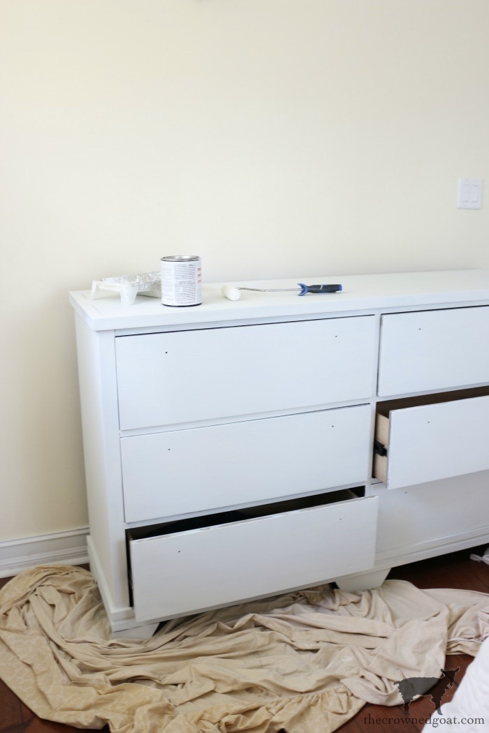 Annie-Sloan-Chalk-Paint-Pure-White-Dresser-Makeover-The-Crowned-Goat-5 Loblolly Manor: Pure White Dresser Makeover Loblolly_Manor Painted Furniture