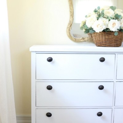 Loblolly Manor: Pure White Dresser Makeover