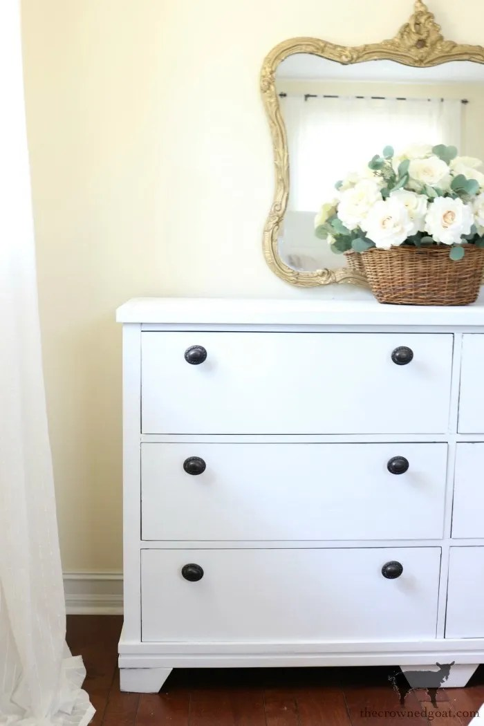 Annie-Sloan-Chalk-Paint-Pure-White-Dresser-Makeover-The-Crowned-Goat-6 Loblolly Manor: Pure White Dresser Makeover Loblolly_Manor Painted Furniture