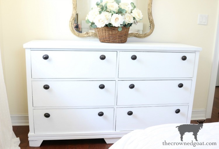 Annie-Sloan-Chalk-Paint-Pure-White-Dresser-Makeover-The-Crowned-Goat-7 Loblolly Manor: Pure White Dresser Makeover Loblolly_Manor Painted Furniture