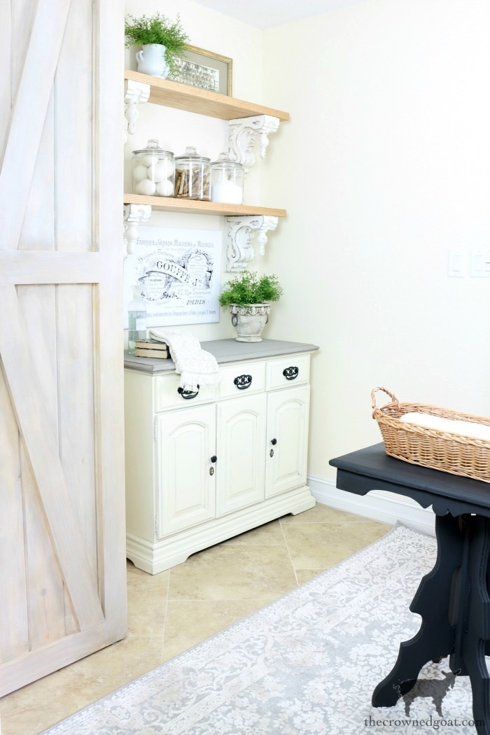 French-Linen-Nightstand-Makeover-The-Crowned-Goat-1 French Linen Nightstand Makeover Decorating DIY Painted Furniture