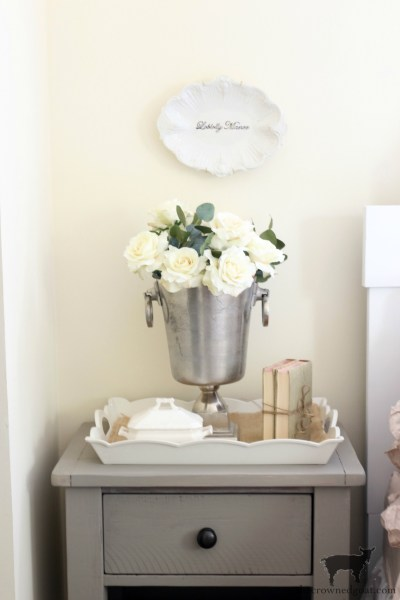 French Linen Nightstand Makeover