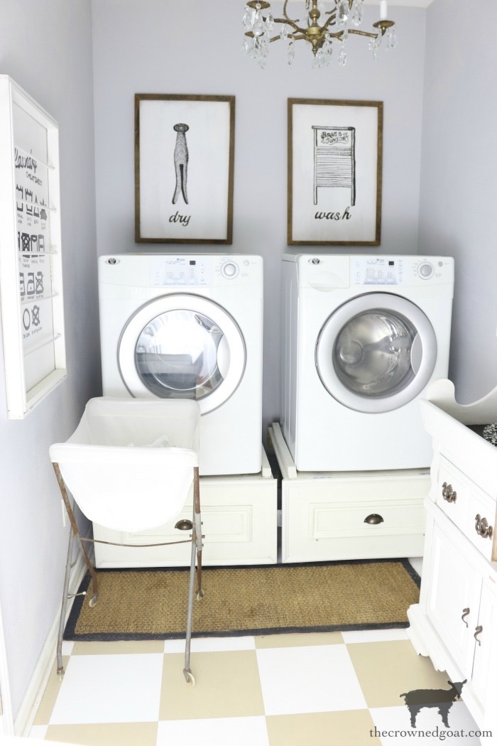 Home-Goals-Laundry-Room-The-Crowned-Goat-15 2019 Home Goals Decorating DIY Organization
