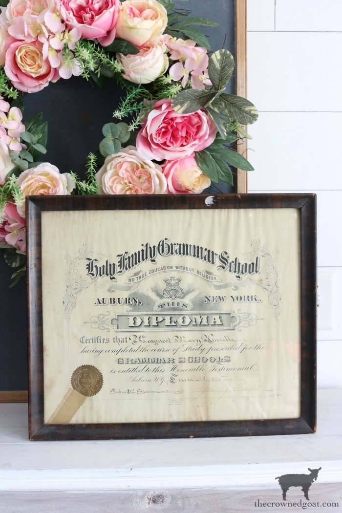 Antique-Grammar-School-Diploma-The-Crowned-Goat-18 Latest Finds from the Treasure Trail Decorating Thrifted Finds