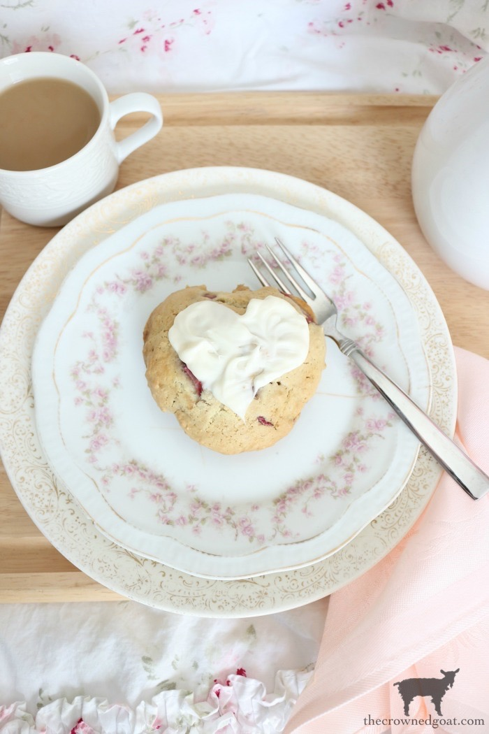 Strawberry-Almond-Scone-Recipe-The-Crowned-Goat-2 Strawberry Almond Scone Recipe Baking Holidays Valentines