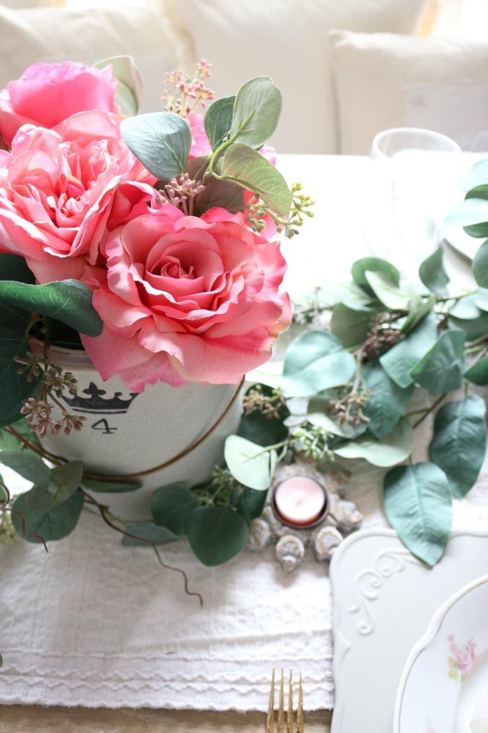 Vintage-Valentines-Day-Tablescape-Blog-Hop-The-Crowned-Goat-3 Vintage Valentine's Day Tablescape and Blog Hop Holidays Valentines