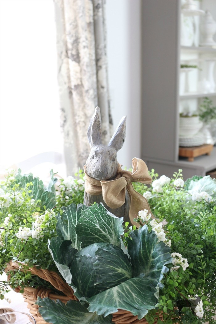 Bunny-Tablescape-The-Crowned-Goat-14 Spring Bunny Tablescape Decorating DIY Holidays Spring