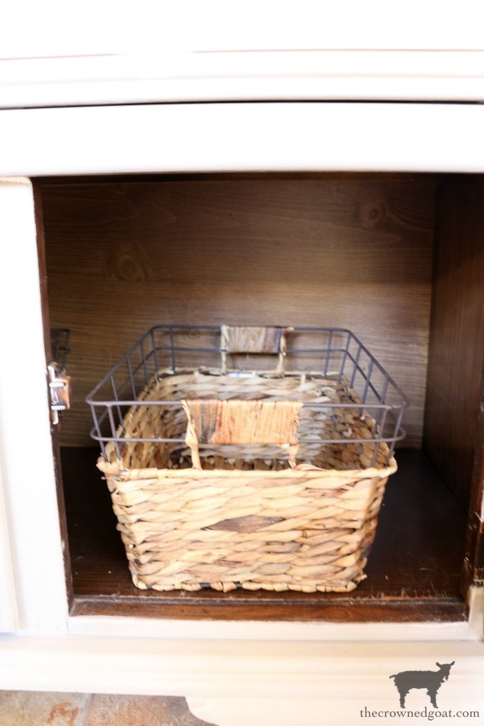 Dry-Sink-Drink-Station-Makeover-The-Crowned-Goat-14 Dry Sink Drink Station Makeover Decorating DIY Painted Furniture