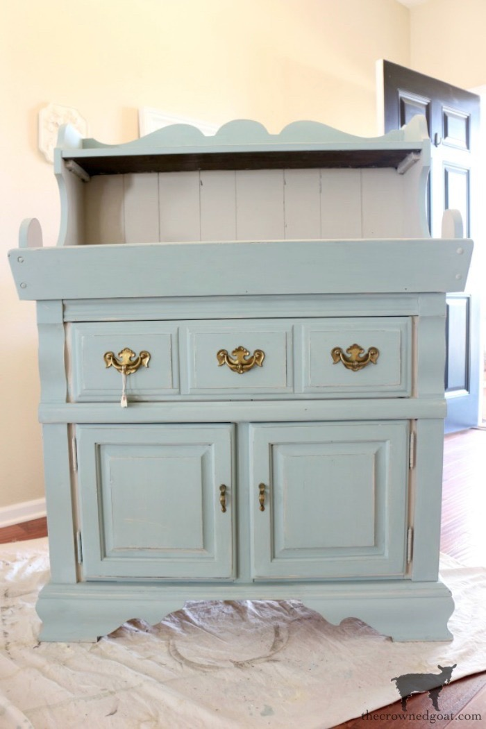 Dry-Sink-Drink-Station-Makeover-The-Crowned-Goat-3 Dry Sink Drink Station Makeover Decorating DIY Painted Furniture