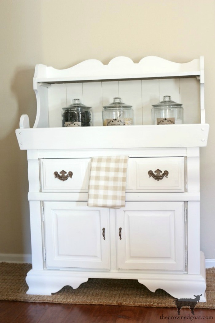Dry-Sink-Drink-Station-Makeover-The-Crowned-Goat-4 Dry Sink Drink Station Makeover Decorating DIY Painted Furniture