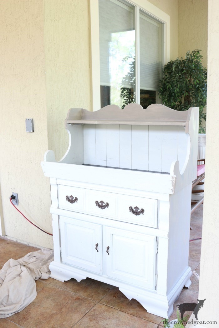 Dry-Sink-Drink-Station-Makeover-The-Crowned-Goat-6 Dry Sink Drink Station Makeover Decorating DIY Painted Furniture
