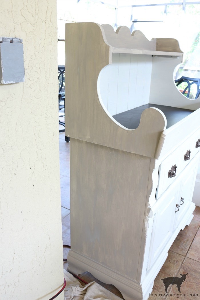 Dry-Sink-Drink-Station-Makeover-The-Crowned-Goat-8 Dry Sink Drink Station Makeover Decorating DIY Painted Furniture