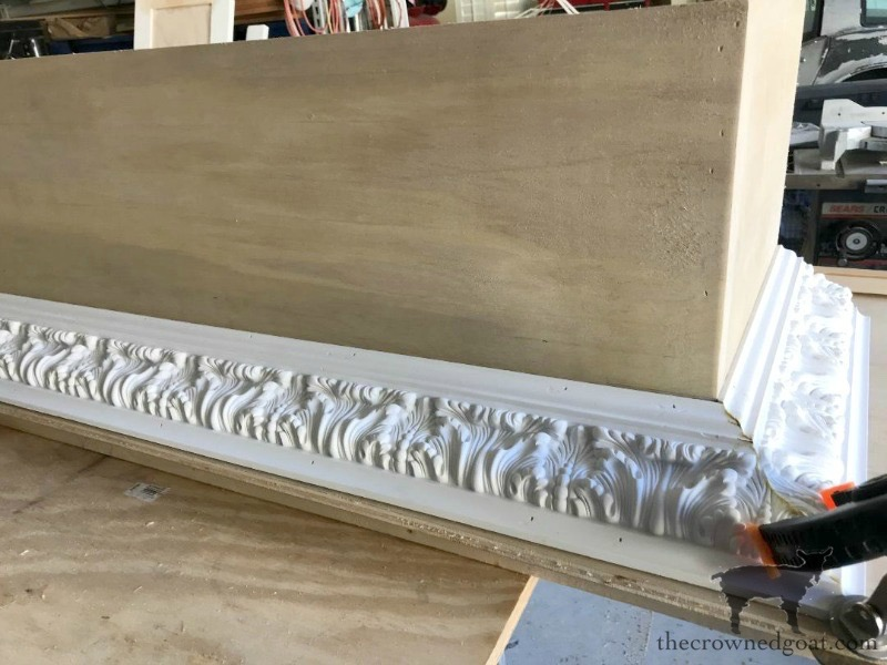 DIY-Bed-Crown-The-Crowned-Goat-1 DIY French Country Bed Crown Decorating DIY One_Room_Challenge Painted Furniture