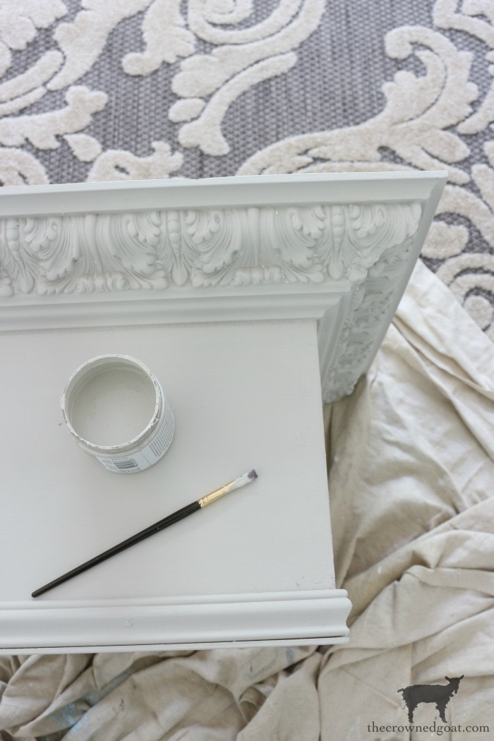 DIY-Bed-Crown-The-Crowned-Goat-10 DIY French Country Bed Crown Decorating DIY One_Room_Challenge Painted Furniture