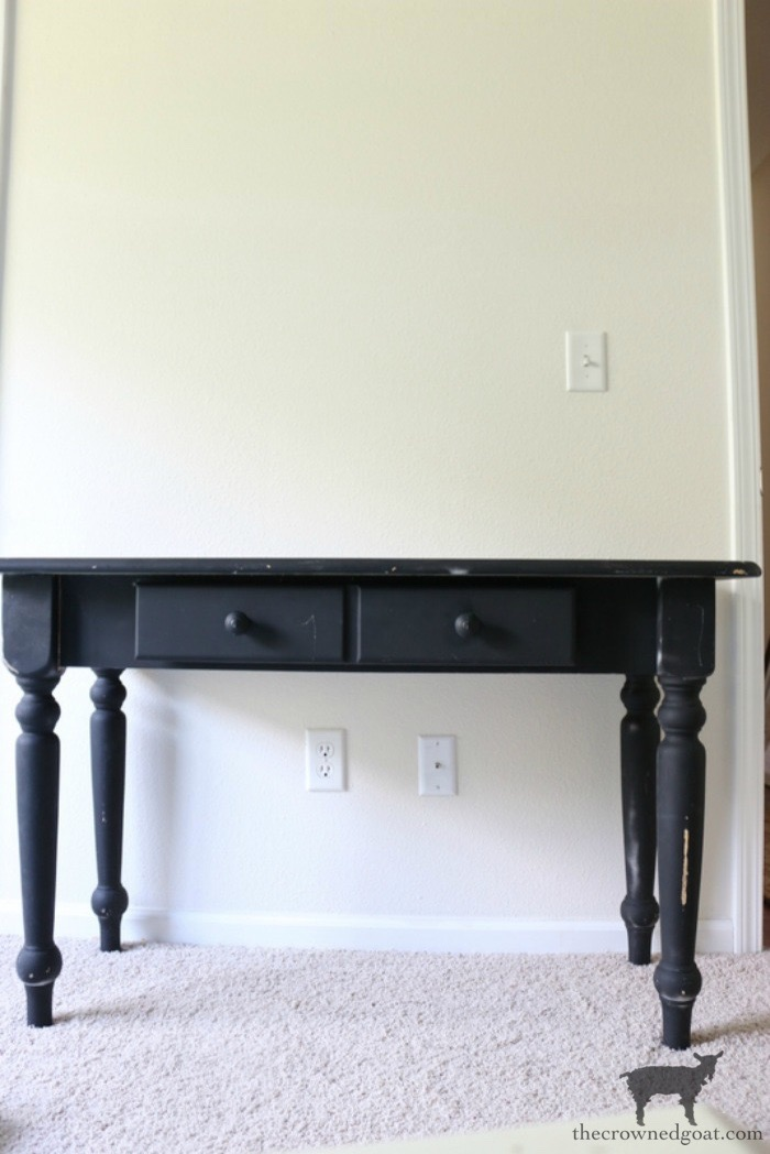 French-Country-Desk-Makeover-The-Crowned-Goat-2 French Country Desk Makeover Decorating DIY One_Room_Challenge Painted Furniture