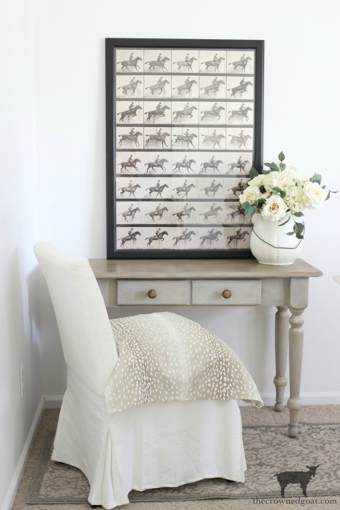 French-Country-Desk-Makeover-The-Crowned-Goat-21 French Country Desk Makeover Decorating DIY One_Room_Challenge Painted Furniture