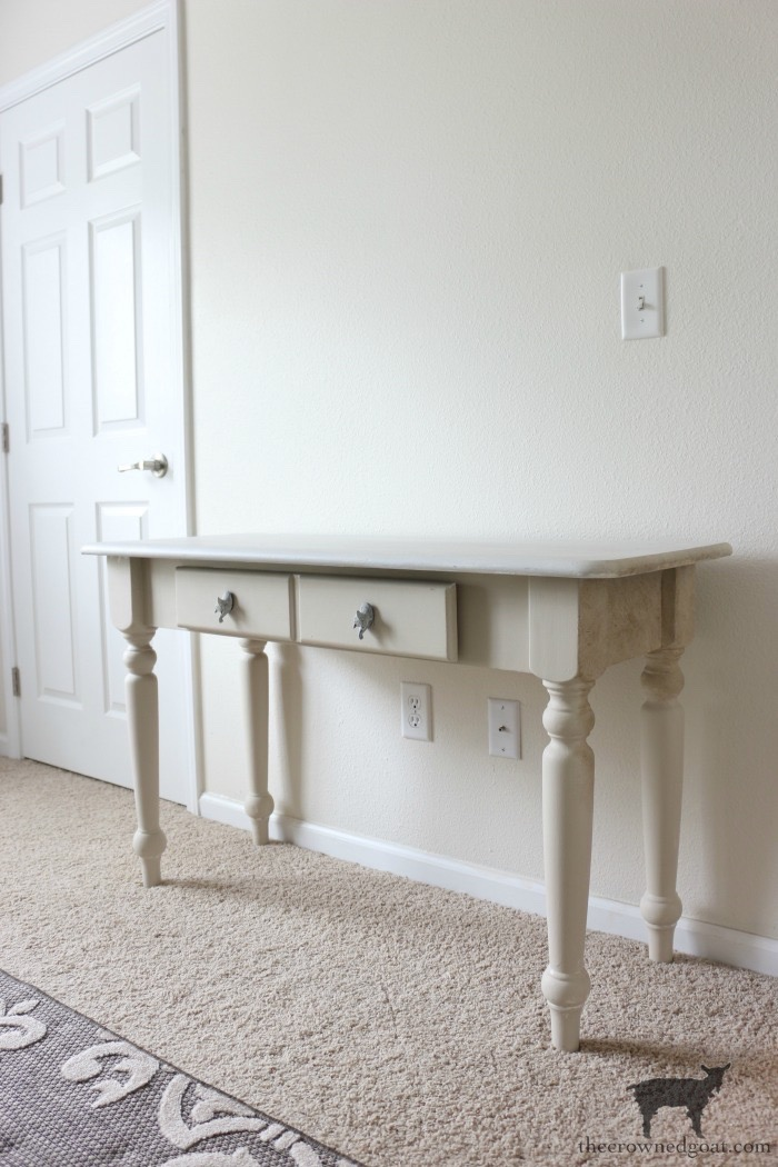 French-Country-Desk-Makeover-The-Crowned-Goat-7 French Country Desk Makeover Decorating DIY One_Room_Challenge Painted Furniture