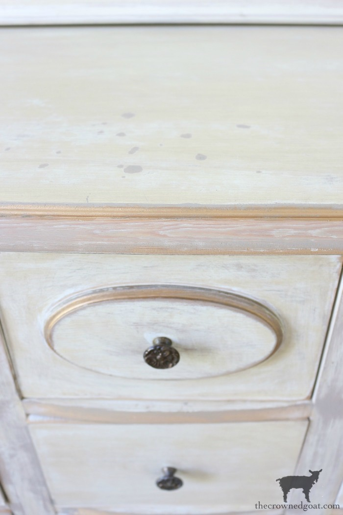 Gold-Accents-French-Country-Dresser-The-Crowned-Goat-12 Adding Gold Accents to a French Farmhouse Dresser Decorating One_Room_Challenge Painted Furniture