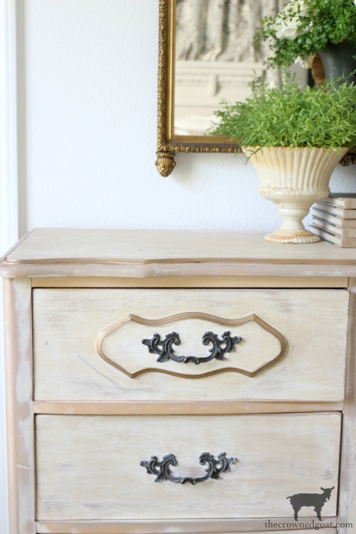 Gold-Accents-French-Country-Dresser-The-Crowned-Goat-17 Adding Gold Accents to a French Farmhouse Dresser Decorating One_Room_Challenge Painted Furniture