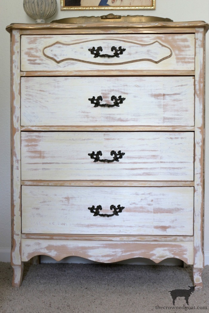 Gold-Accents-French-Country-Dresser-The-Crowned-Goat-2 Adding Gold Accents to a French Farmhouse Dresser Decorating One_Room_Challenge Painted Furniture