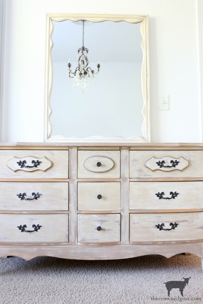 Gold-Accents-French-Country-Dresser-The-Crowned-Goat-6 Adding Gold Accents to a French Farmhouse Dresser Decorating One_Room_Challenge Painted Furniture