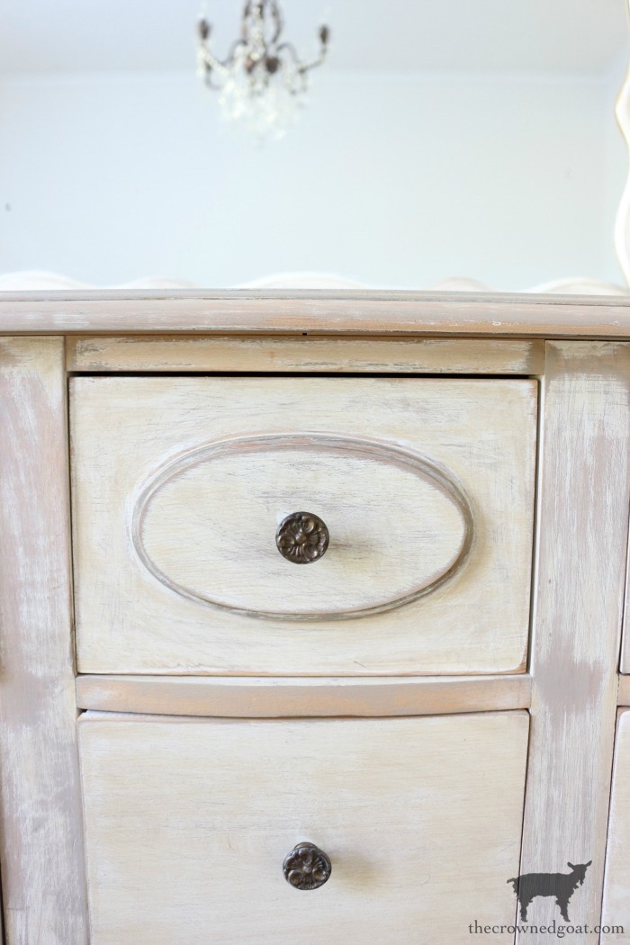 Gold-Accents-French-Country-Dresser-The-Crowned-Goat-8 Adding Gold Accents to a French Farmhouse Dresser Decorating One_Room_Challenge Painted Furniture