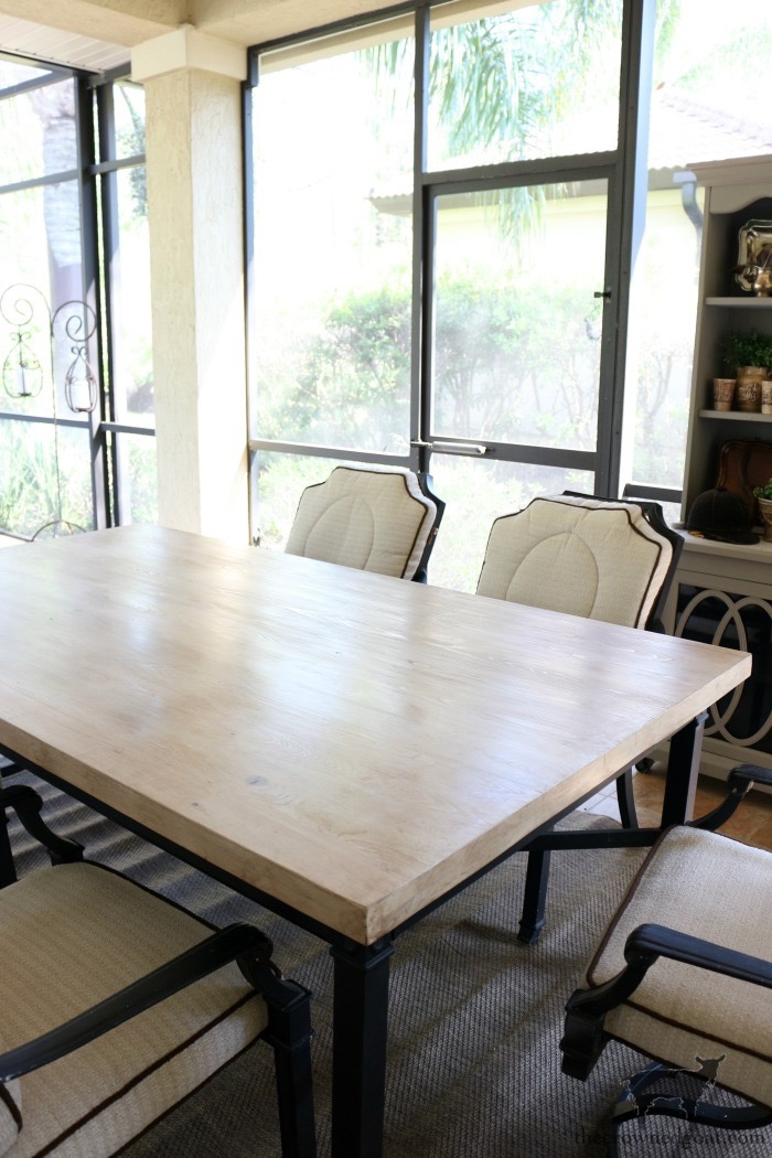 How-to-Make-an-Outdoor-Dining-Table-The-Crowned-Goat-15 Bliss Barracks Lanai Makeover: Outdoor Dining Table Bliss Barracks Decorating DIY