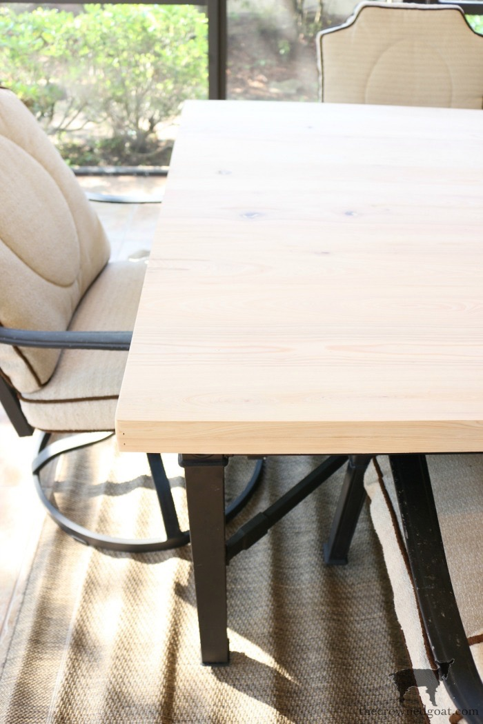 How-to-Make-an-Outdoor-Dining-Table-The-Crowned-Goat-3 Bliss Barracks Lanai Makeover: Outdoor Dining Table Bliss Barracks Decorating DIY