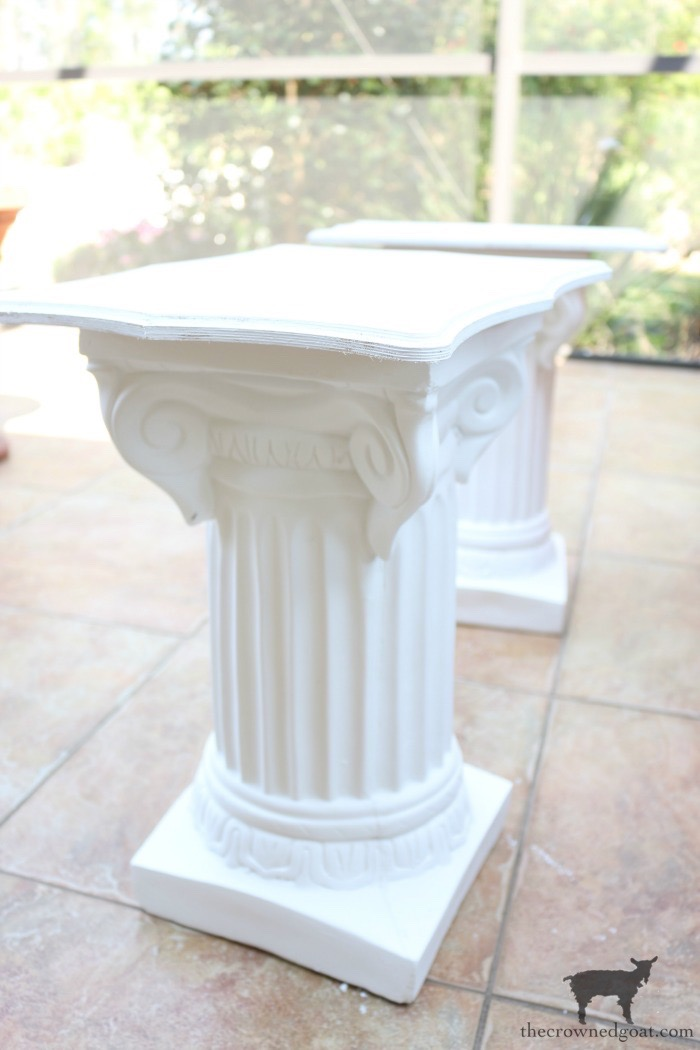 Make-Side-Tables-From-Columns-The-Crowned-Goat-12 Bliss Barracks Lanai Makeover: Side Tables from Columns Decorating DIY Painted Furniture