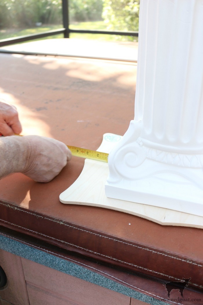 Make-Side-Tables-From-Columns-The-Crowned-Goat-7 Bliss Barracks Lanai Makeover: Side Tables from Columns Decorating DIY Painted Furniture