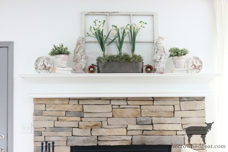 Spring-Mantel-Decorating-The-Crowned-Goat-12 Spring Mantel Décor Decorating Holidays Spring