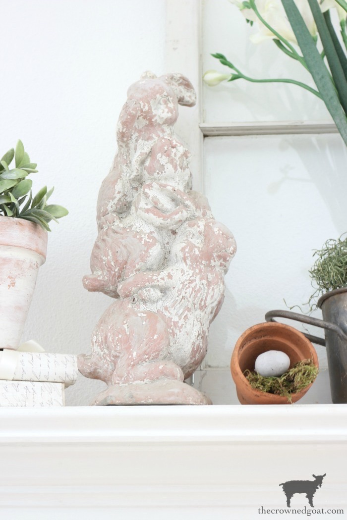 Spring-Mantel-Decorating-The-Crowned-Goat-8 Spring Mantel Décor Decorating Holidays Spring