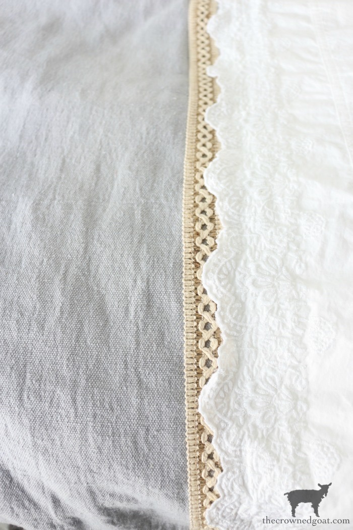 DIY-French-Linen-Bed-Scarf-The-Crowned-Goat-13 French Linen Inspired Bed Scarf Decorating DIY