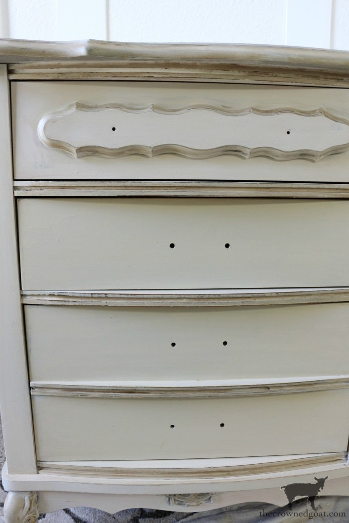 Miss-Mustard-Seed-Milk-Paint-Marzipan-Dresser-Makeover-The-Crowned-Goat-10 Miss Mustard Seed Milk Paint Dresser Makeover in Marzipan Decorating DIY Painted Furniture