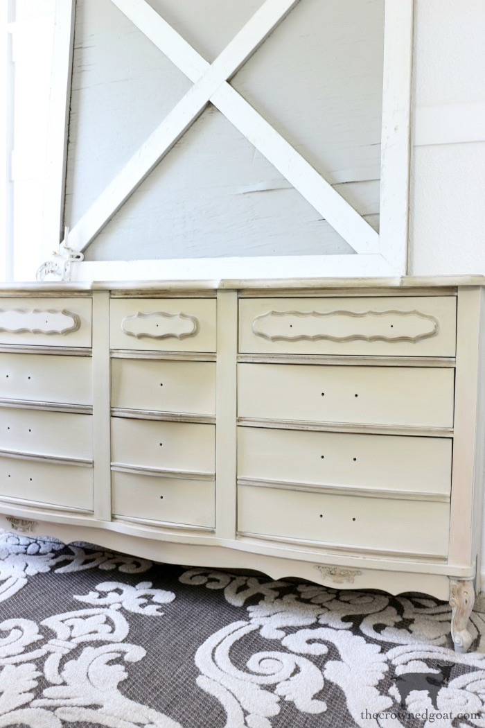 Miss-Mustard-Seed-Milk-Paint-Marzipan-Dresser-Makeover-The-Crowned-Goat-12 Miss Mustard Seed Milk Paint Dresser Makeover in Marzipan Decorating DIY Painted Furniture