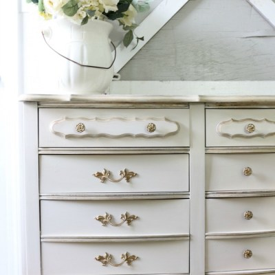 Miss Mustard Seed Milk Paint Dresser Makeover in Marzipan