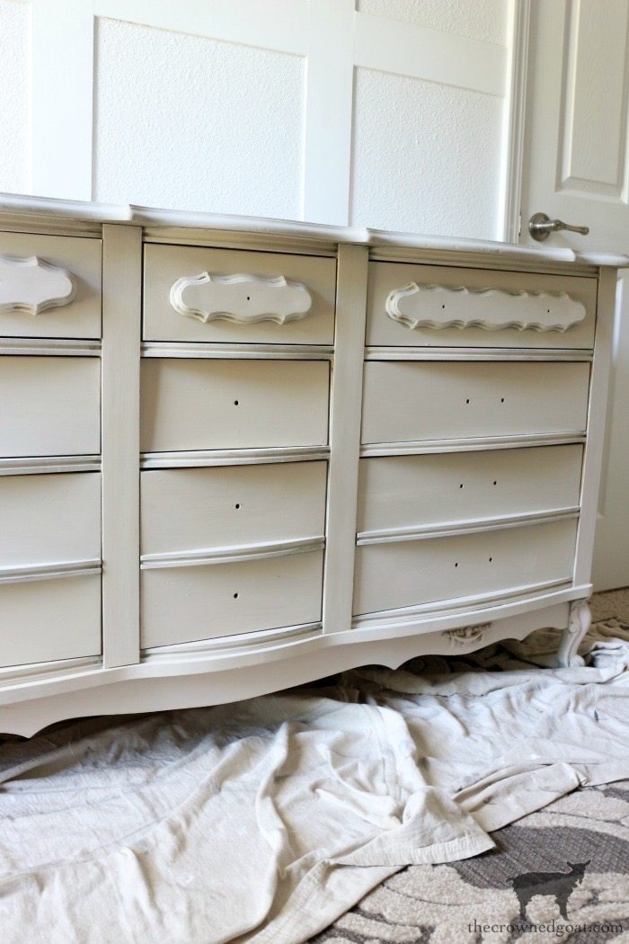 Miss-Mustard-Seed-Milk-Paint-Marzipan-Dresser-Makeover-The-Crowned-Goat-5 Miss Mustard Seed Milk Paint Dresser Makeover in Marzipan Decorating DIY Painted Furniture