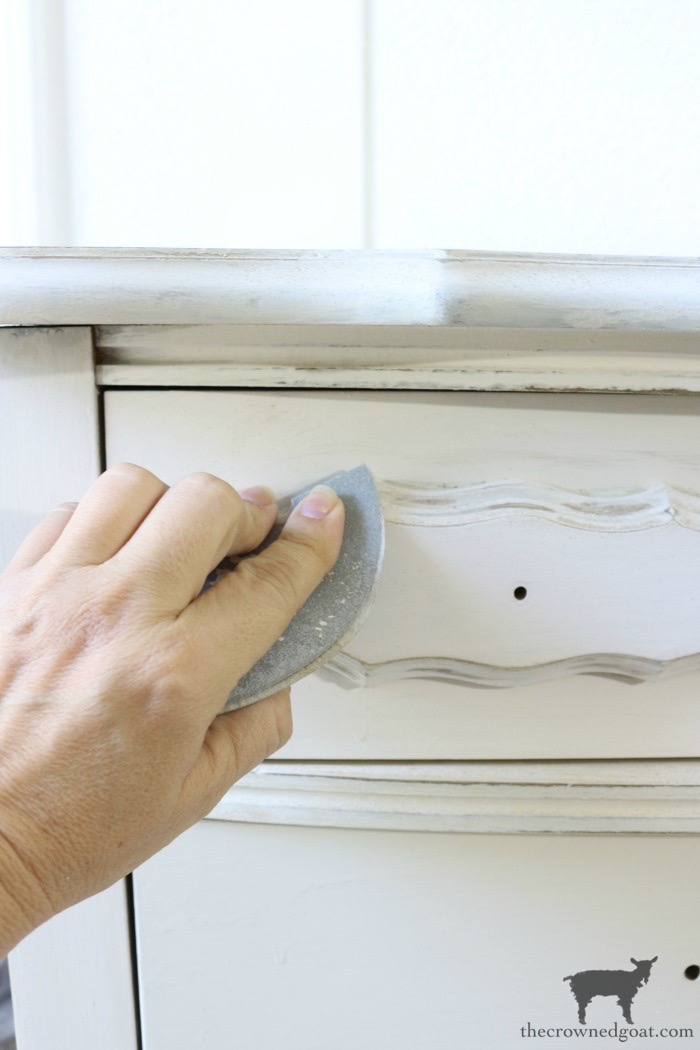 Miss-Mustard-Seed-Milk-Paint-Marzipan-Dresser-Makeover-The-Crowned-Goat-6 Miss Mustard Seed Milk Paint Dresser Makeover in Marzipan Decorating DIY Painted Furniture