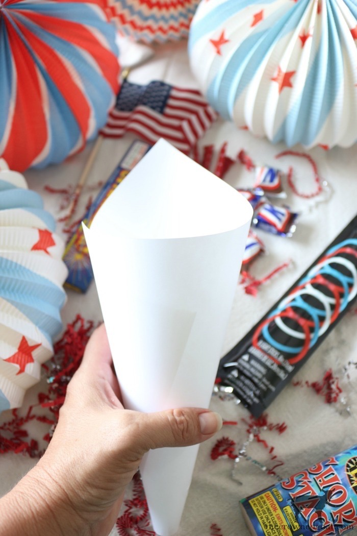 Patriotic-Party-Cones-The-Crowned-Goat-7 Quick & Easy Patriotic Party Cones Crafts Decorating Holidays Summer