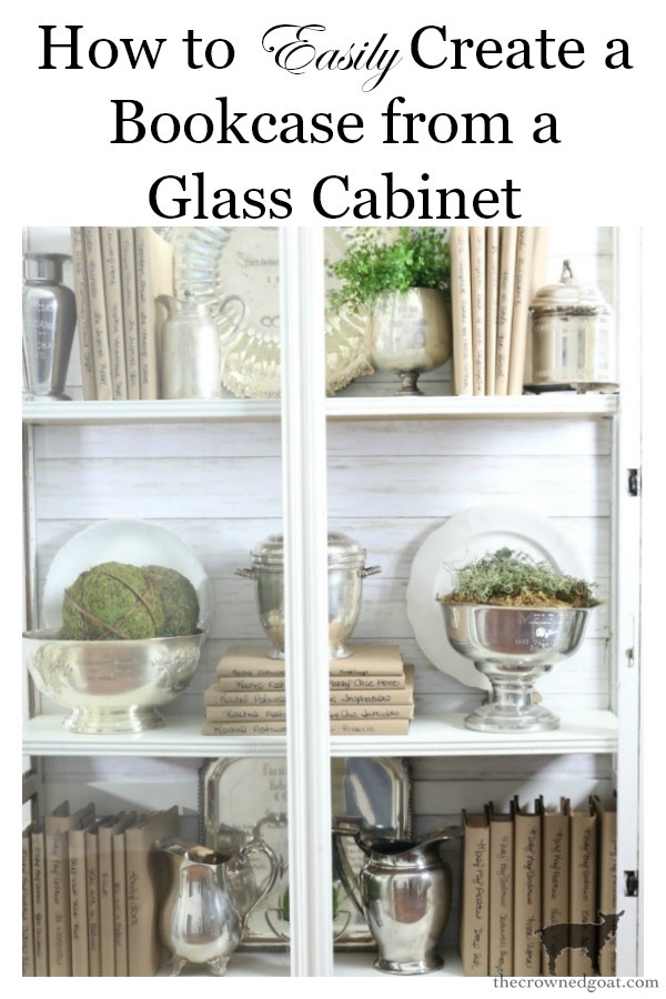 Turn-a-Display-Cabinet-Into-a-Bookcase-The-Crowned-Goat-16b How to Turn a Display Case into a Bookcase Decorating DIY