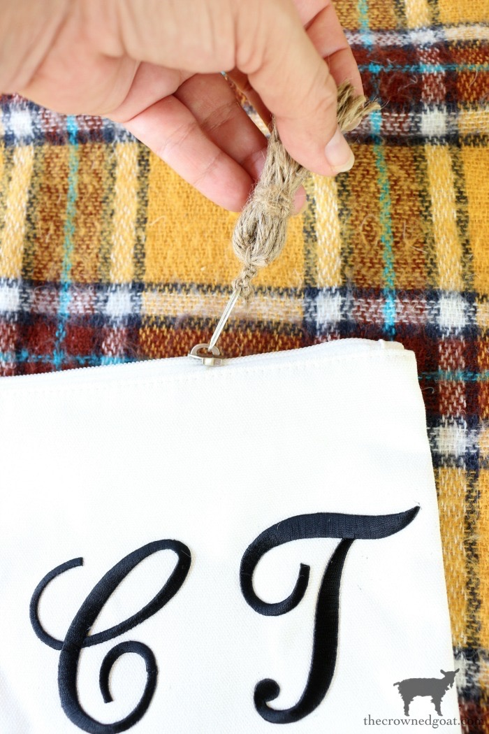 DIY-Monogrammed-Canvas-Pouch-The-Crowned-Goat-18 DIY Monogrammed Canvas Pouch Crafts DIY