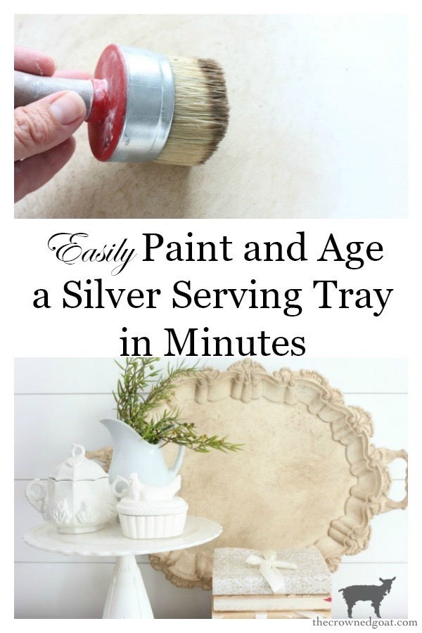 How-to-Paint-and-Age-Silver-Plate-Serving-Tray-The-Crowned-Goat-17 Easily Paint and Age a Silver Serving Tray Crafts Decorating DIY