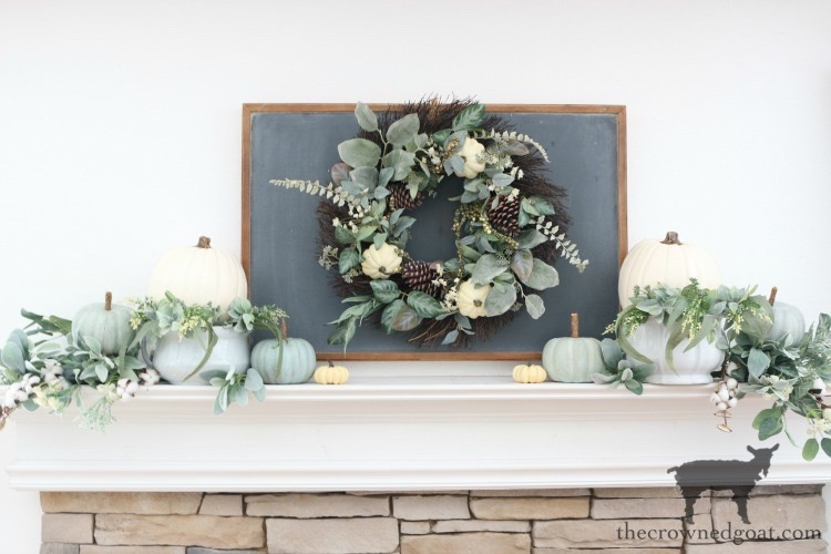 Creating-an-Easy-Fall-Mantel-The-Crowned-Goat-6 5 Steps to Creating an Easy Fall Mantel Fall