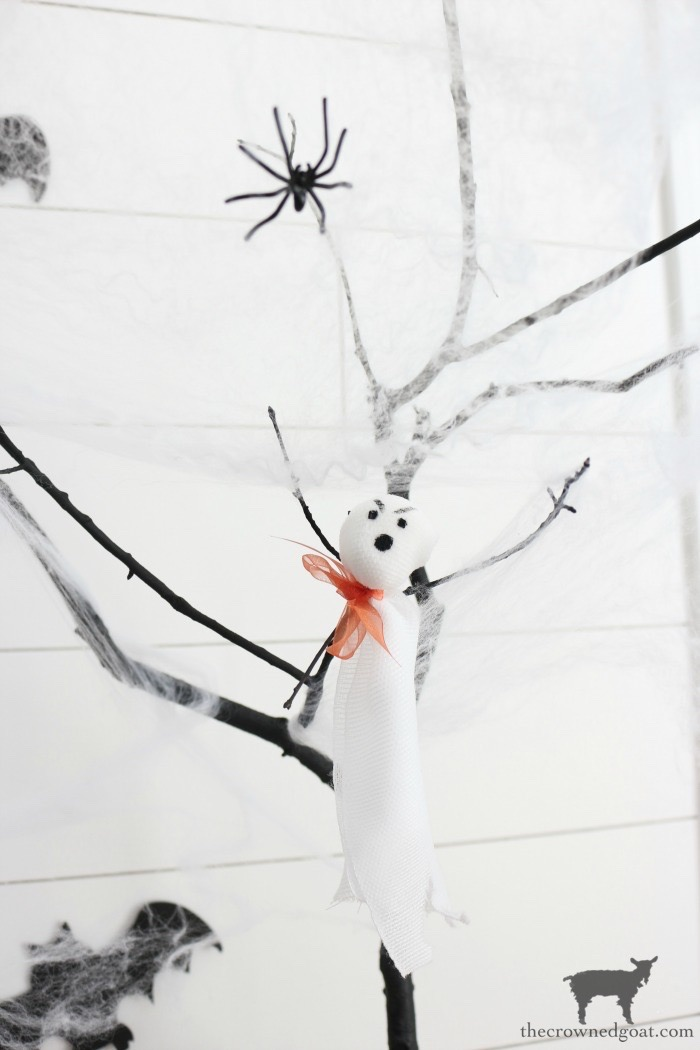 DIY-Halloween-Tree-The-Crowned-Goat-2 DIY Halloween Trees Crafts Fall Holidays