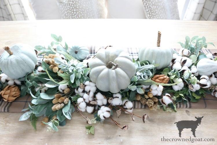 DIY-Greenery-Table-Runner-The-Crowned-Goat-19 DIY Greenery Table Runner Decorating DIY Fall Holidays