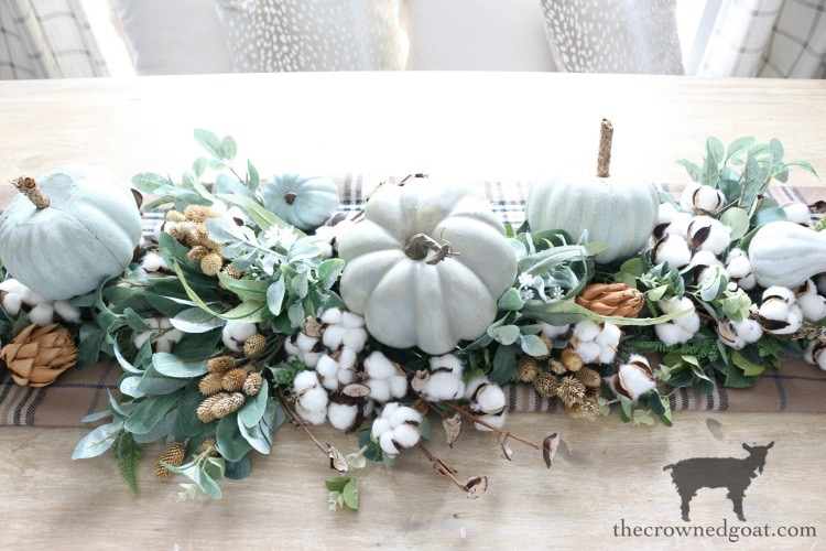 DIY-Greenery-Table-Runner-The-Crowned-Goat-19 DIY Greenery Table Runner Decorating DIY Fall Holidays