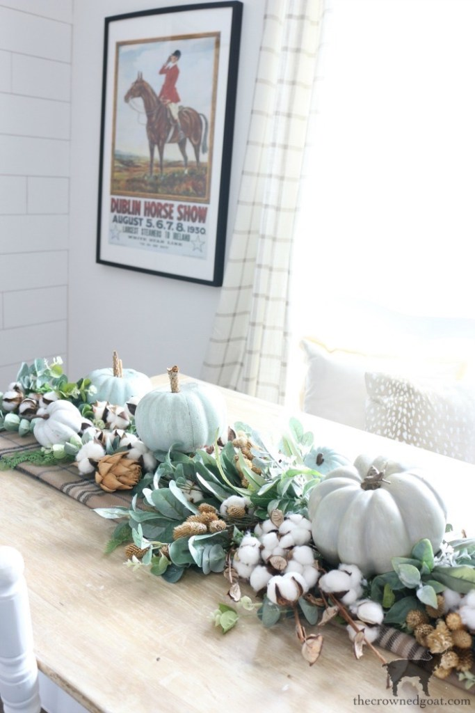 DIY-Greenery-Table-Runner-The-Crowned-Goat-20-683x1024 DIY Greenery Table Runner Decorating DIY Fall Holidays