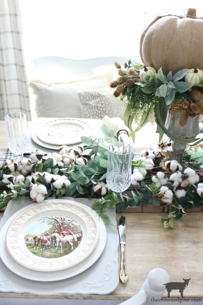DIY-Greenery-Table-Runner-The-Crowned-Goat-21-683x1024 DIY Greenery Table Runner Decorating DIY Fall Holidays