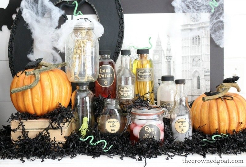 How-to-Create-a-Spooky-Curiosity-Cabinet-for-Halloween-The-Crowned-Goat-12 How to Create a Spooky Curiosity Cabinet Crafts Fall Holidays